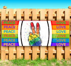 """PEACE AND LOVE SIGN Advertising Vinyl Banner Flag Sign USA 15"""" 18"""" 20"""" 30"""" 48"""""""