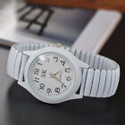 Luxury Elastic Stainless Steel Wristwatch Quartz Women Men Dress Analog Watches