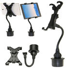"""Adjustable Car Cup Holder Mount For Apple Ipad Mini Galaxy 7""""~10"""" Inch Tablet"""