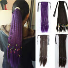 Colorful Braids Locks Curly Long Ponytail Clips In Hair Extension Lady Hairpiece