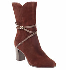 Suede Boots  Isaac Mizrahi Live with Strap Detail sz 10M A219322