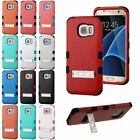 For Samsung Galaxy S7 Edge Hybrid Dual Layer Hard Cover Shockproof Case w/ Stand