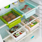 Slide Kitchen Fridge Freezer Space Saver Rack Shelf Holder Organizer Storage Box
