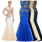 peacock blue wedding dress - GK Peacock Bridesmaid Gowns Sexy Strapless Mermaid Long Prom Wedding Party Dress