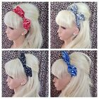 PAISLEY BANDANA PRINT COTTON FABRIC BOW HAIR BAND STRETCH HEAD WRAP RETRO STYLE