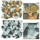 3x_Lagoon_Glass Circles Mosaic Tile_Kitchen Backsplash_Ba...