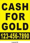 3ftX4ft Custom Printed CASH FOR GOLD Banner Sign with Your Phone Number