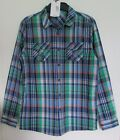 NEW BOYS LONG SLEEVE CHECKED SHIRT GREEN MIX MARKS & SPENCER KIDS 7-8 11-12 13-1
