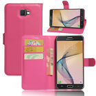 Book Flip Wallet stand Leather Case cover For Samsung Galaxy J7 Prime/ On7 2016