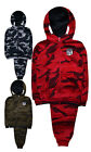 Boys Tracksuit New Kids Camo Hoodie Joggers Camouflage Set Ages 2 - 12 Years
