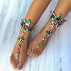 Romantic Multi Color Crystal Bridal Foot Jewelry Alloy Anklet New Gifts Beach