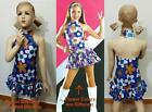 Welcome to The Sixties Dance Costume Flowered Hippi Dress Tap Child Halloween