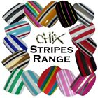 Stripes CHIX NAILS Fashion Coloured Stripe Full Sheet 22 Vinyl Nail Wraps Foils