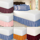 Elastic Ruffle Bed Skirt Easy Fit Spread Cover Valance Soft Twin Full Queen King image