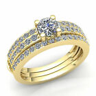 1.5ct Round Cut Diamond Womens Accent Solitaire Engagement Ring 10K Gold
