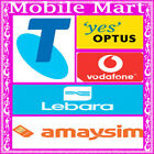 Telstra Optus Boost Vodafone AmaySIM Lebara◉0 Credit◉Call Text Net◉Tri-Cut◉3G 4G