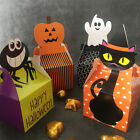 Halloween Trick Or Treat Paper Candy Boxes Favour Cookie Cake Gift Sweet Carrier