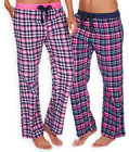 Ladies Thermal Checked Pyjama Bottoms New Womens 100% Brushed Cotton PJS UK 8-22
