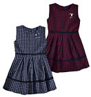 Girls Skater Dress New Kids Check Sleeveless Party Dresses Ages 2 - 10 Years