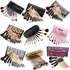 12 Pcs Wooden Makeup Brushes Set Eye Foundation Eyeshadow Cosmestic