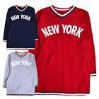 Girls Dress New Kids New York Long Sleeved Jumper Casual Dresses 3 - 12 Years