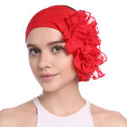 Womens Headwrap Chiffon Flower Headband Turban Hat Muslim Hairband Bandana Caps