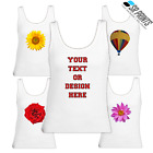 Flower printed ladies Vest Tank Top 100% Cotton casual wear