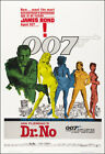 Dr. No Movie Poster Print James Bond 007 - 1962 - Action - 1 Sheet Artwork $19.95 USD