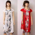 Fashion High Quality Casual Loose Fitting Gown Dress 100% Cotton M CX010