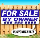 FOR SALE BY OWNER PERSONALIZE Advertising Vinyl Banner Flag Sign Many Sizes USA