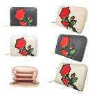 Flower Rose Purse Card Wallet Women's Soft Leather Look Floral