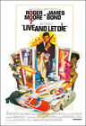 Live And Let Die Movie Poster Print - 1973 - Action - 1 Sheet Artwork James Bond $26.1 CAD on eBay