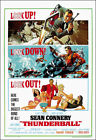 Thunderball Movie Poster Print - 1965 - Action - 1 Sheet Art - James Bond 007 $24.95 USD on eBay