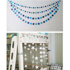Christmas Star Garland Bunting 4M Shimmer Home Wedding Party Hanging Decor BL