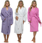 Ladies Womens Towel Dressing Gown Robe 100% Cotton Hotel Spa Towelling Terry