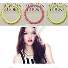 1pc Women Retro Punk Jewelry Gold Chain Leather Collar Necklace Pendant FJ556