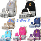 3pcs/Set Backpack Women Canvas Voyages Bookbags School Bags for Teenage Girls Hot