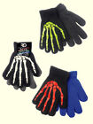 Boy's 6-12 Skeleton Gloves 2 Pack New Acrylic Royal Deluxe