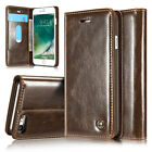 Luxury Genuine Leather Flip Wallet Card Case Cover For  iPhone 5 5s 6 6s 7 Plus