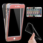 Cover Case New Ultra Thin Slim 360° TPU Gel Skin Pouch for iPhone Samsung Galaxy