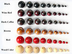 4-20 Mm Natural Round Wood Spacer Beads Loose Jewelry Making Craft Diy Bulk Lot