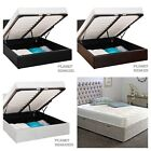 STORAGE OTTOMAN GAS LIFT LEATHER BEDS BED FRAME WITH MEMORY FOAM MATTRESS DEAL -