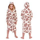Nifty Kids 3D Cow Print Robe Dressing Gown Boys Girls New Super Soft Nightwear