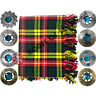More images of Kilt Fly Plaid Modern Buchanan Tartan 48 X 48 / Fly Plaid Brooch Various Design