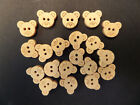 *CUTE* WOODEN TEDDY BUTTONS. 20-50 In A Pack *GREAT VALUE* WOOD CRAFT BUTTONS