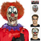 Smiffys Adults Deluxe Foam Latex Special FX Clown Prosthetic Halloween Mask