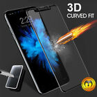 For iPhone 7 8 Plus X 3D Curved Full Coverage Tempered Glass Screen Protector