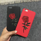 Embroidery Rose Flower Design Phone Case Cover Skin For iPhone 6 6s 7 7 Plus