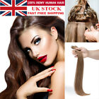 "Russian 8A THICK Tape In Remy 100% Real Human Hair Extensions 22"" Straight UK880"