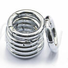 Mini Silver Circle Round Carabiner Spring Snap Clip Hook Keychain Wholesale